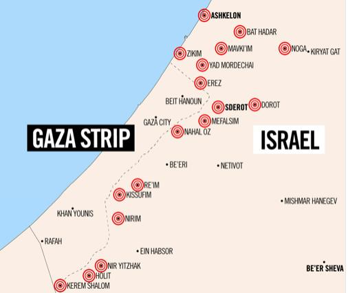 Gaza-mapoftargets-July2018